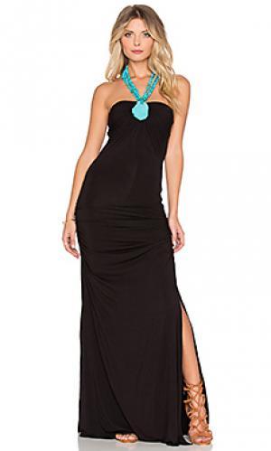 Макси платье sirri sky. Цвет: черный