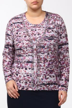 Комплект: блуза, жакет Elisa Fanti. Цвет: лиловый