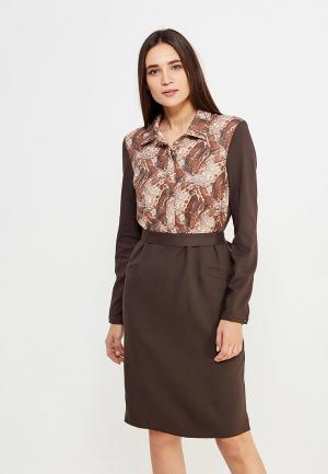 Платье Pallari. Цвет: коричневый