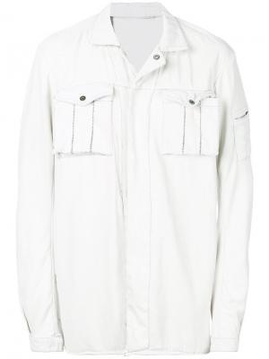 Джинсовая куртка 11 By Boris Bidjan Saberi. Цвет: белый