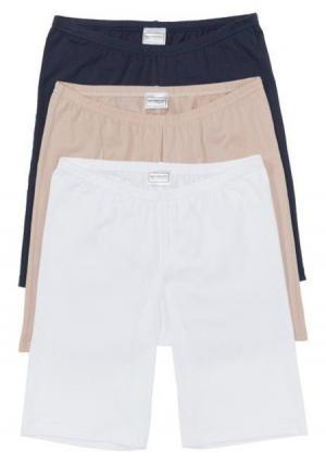 Панталоны, 3 штуки. Цвет: синий/белый/бежевый