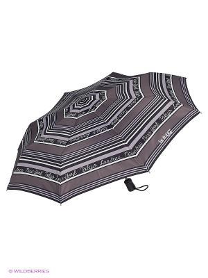 Зонты Isotoner. Цвет: черный, серый, белый