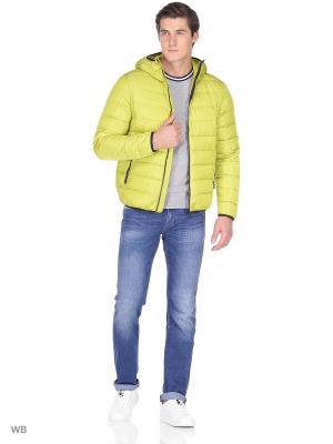 Куртка GEOX. Цвет: желтый, салатовый
