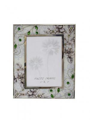 Рамка для фотографии  Благородный изумруд JARDIN D'ETE. Цвет: зеленый, серый, белый