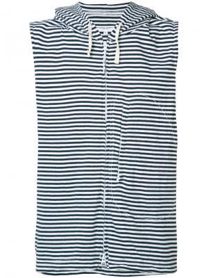 Полосатая толстовка без рукавов Engineered Garments. Цвет: синий