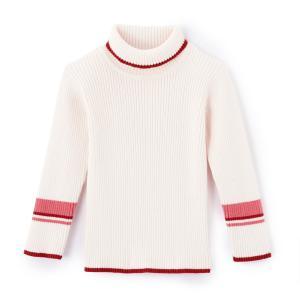 Пуловер из трикотажа 1 мес - 3 лет La Redoute Collections. Цвет: розовый