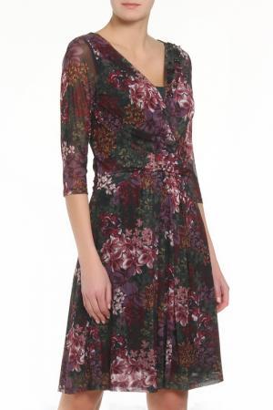 Платье ZERO. Цвет: зелено-фиолетовый