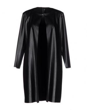 Легкое пальто SIMONA MARTINI. Цвет: черный