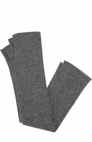 Однотонные кашемировые митенки Tegin. Цвет: темно-серый