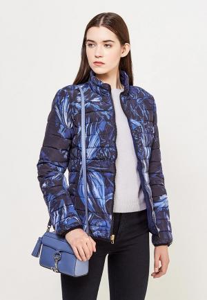 Куртка утепленная Just Cavalli. Цвет: синий