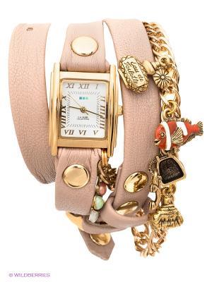 Часы La Mer Collections. Цвет: бежевый, золотистый