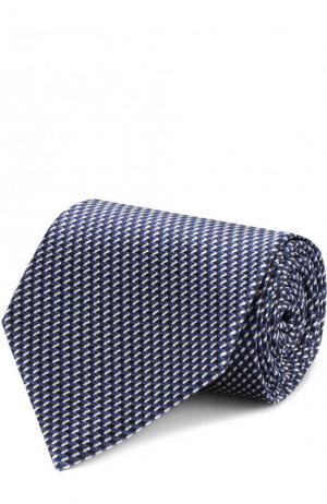 Шелковый галстук Ermenegildo Zegna. Цвет: темно-синий