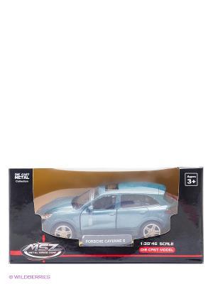 Машинка инерционная, металл, Porsche Cayenne S, 1:43, лазурь Blue Sea. Цвет: голубой