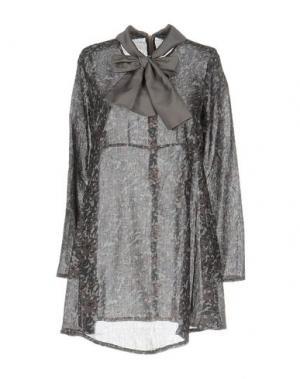 Короткое платье LA CAMICIA BIANCA. Цвет: голубиный серый