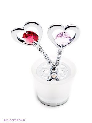 Сувенир CRYSTOCRAFT. Цвет: серебристый, красный, розовый