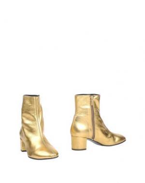 Полусапоги и высокие ботинки MARIAN. Цвет: золотистый