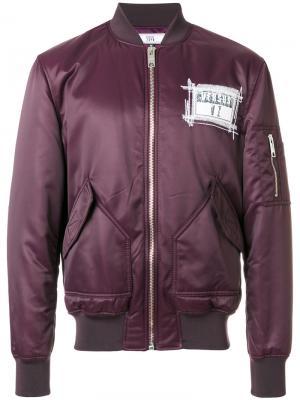 Куртка-бомбер Zayn X Versus. Цвет: розовый и фиолетовый