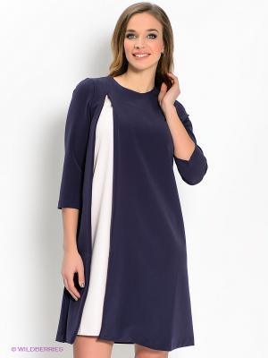 Платье IMAGO. Цвет: темно-синий, бледно-розовый