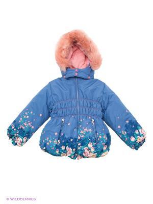 Куртка Baby Club. Цвет: синий, бледно-розовый