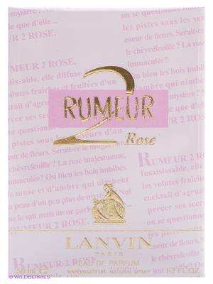 Парфюмерная вода RUMEUR 2 ROSE 50 мл. LANVIN. Цвет: бледно-розовый