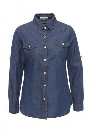 Рубашка джинсовая Coco Nut. Цвет: синий