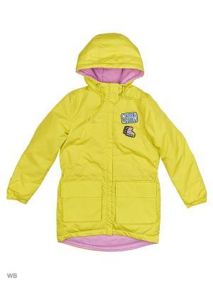 Куртка BOOM. Цвет: желтый, салатовый