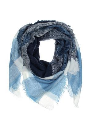 Платок Migura. Цвет: голубой, белый, синий