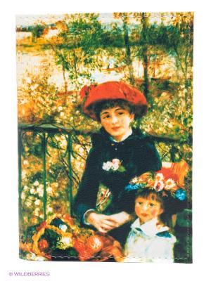 Обложка для паспорта Ренуар Mitya Veselkov. Цвет: серо-зеленый, красный, оранжевый