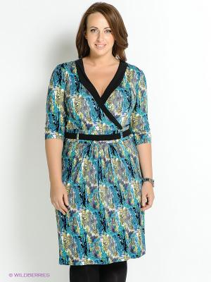 Платье Klimini. Цвет: синий, зеленый, серый