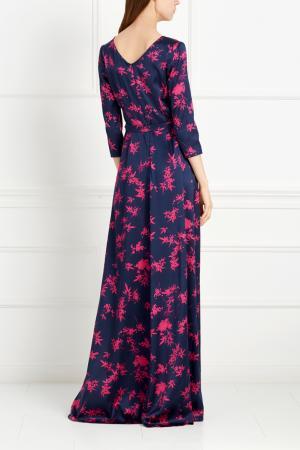 Шелковое платье Alexander Terekhov. Цвет: фиолетовый, фуксия