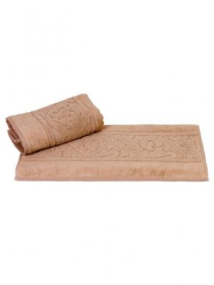 Махровое полотенце 50x90 SULTAN бежевое,100% хлопок HOBBY HOME COLLECTION. Цвет: бежевый