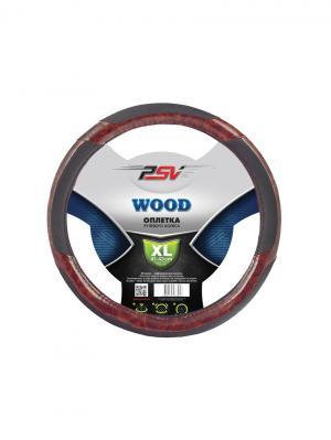 Оплётка на руль PSV WOOD. Цвет: коричневый, черный