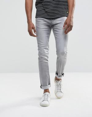 Troy Облегающие джинсы. Цвет: серый