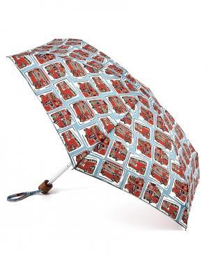 Зонт механический Автобусы  by Fulton Cath Kidston. Цвет: красный