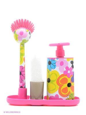 Набор для мытья посуды VIGAR. Цвет: фуксия