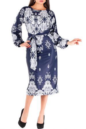 Платье Mannon. Цвет: сине-белый