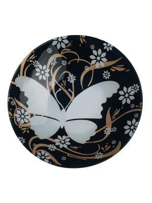 Салатник 25 см Elff Ceramics. Цвет: черный, белый
