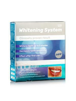 Система для отбеливания зубов Premium (2 карандаша, паста, ремгель, ретрактор) Global White. Цвет: синий, серебристый, серо-голубой