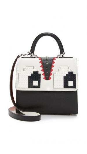 Миниатюрная сумка-портфель Alex с глазами les petit joueurs
