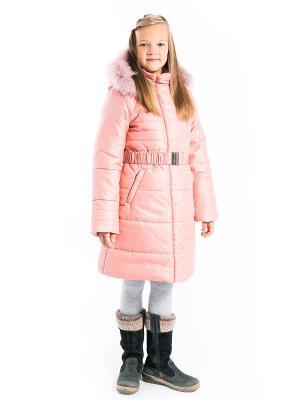 Пальто Рита утепленное Аксарт. Цвет: розовый