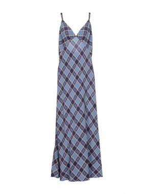 Длинное платье MARC JACOBS. Цвет: пастельно-синий