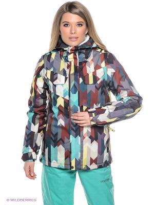 Куртка Volcom. Цвет: терракотовый, желтый, хаки, серый
