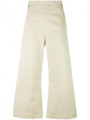 Укороченные широкие брюки Ter Et Bantine. Цвет: телесный
