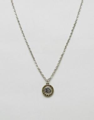 Icon Brand Серебристое ожерелье с медальоном. Цвет: серебряный