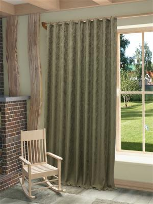 Готовая штора Этна SANPA HOME COLLECTION. Цвет: бежевый, серый