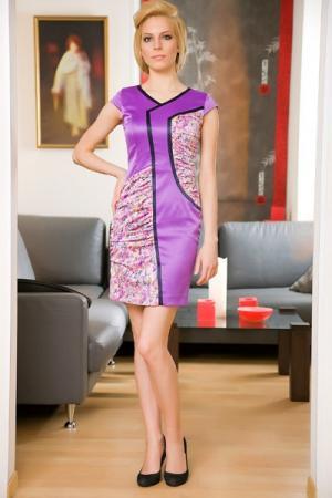 Платье Ally's. Цвет: фиолетовый