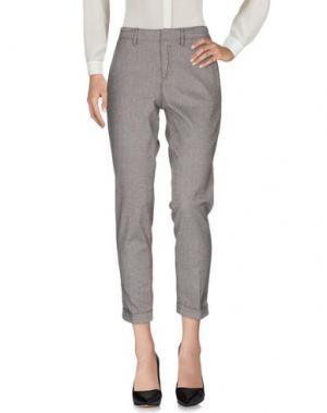 Повседневные брюки HAIKURE. Цвет: стальной серый