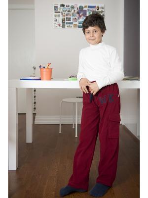 Спортивные брюки WonderKids. Цвет: бордовый