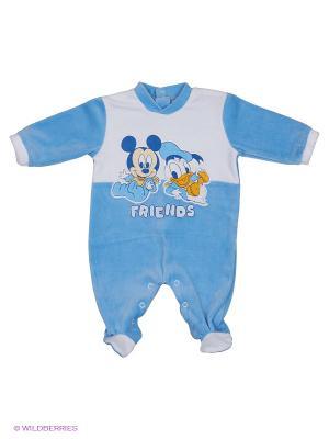 Комбинезон Disney. Цвет: голубой, белый, синий