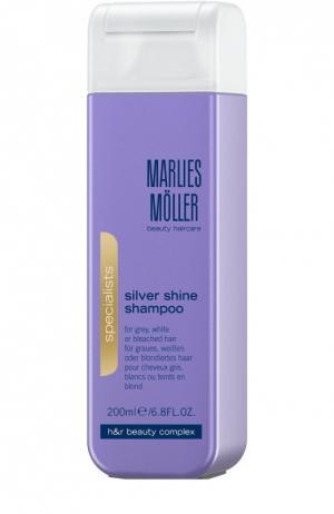 Шампунь для блондинок против желтизны волос Marlies Moller. Цвет: бесцветный